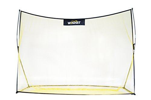 Winnet Golf Net 10 x 7 ft, Golf Training Aids, Hitting Practice Driving internet, Yellow / Black Polyester Knotless Nets – DiZiSports Store