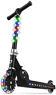 Jetson Jupiter Kick Scooter with LED Light-Up Deck, Stem, and Wheels, Kick Scooter for Kids 5 and up