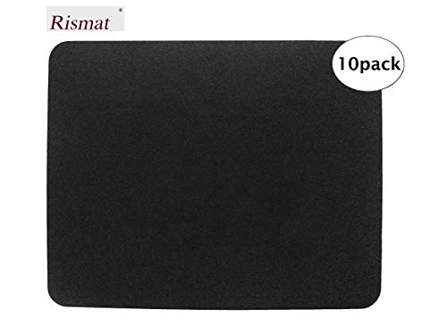 Urinal Floor Mat - Urinal Mats (10 Pack) - Black Floor Toilet mats for Industrial, Commercial & Restaurant Restrooms - Rubber Non-Slip Backing