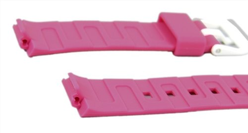 Casio watch strap watchband Resin Band Magenta LDF-52-4AEF LDF-52 LDF-50 by Casio