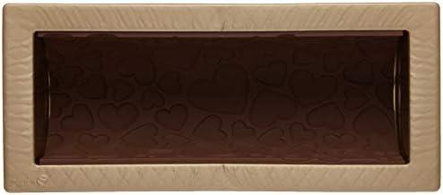 2 unit/à Oro 25 x 9 x 0.6 cm silikomart Tappeto Decorativo in Silicone Magic Love Mat