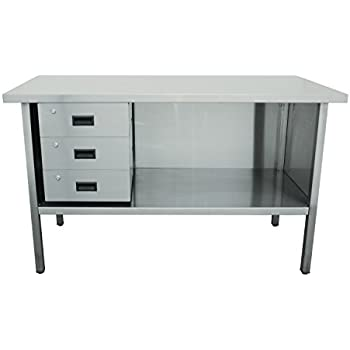 stainless steel work table with drawers bench mechanic vice ken4052320k 2 heavy gauge steel workbench jamco products vp360 stainless steel work bench with drawers stacked left 30 vo360