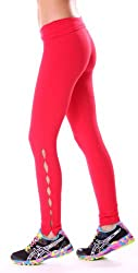 Margarita Activewear Red Hot Pants with Cuts Along Legs