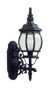 Livex Lighting 7520-04 Frontenac - One Light Exterior Lantern, Black Finish with Clear Beveled Glass
