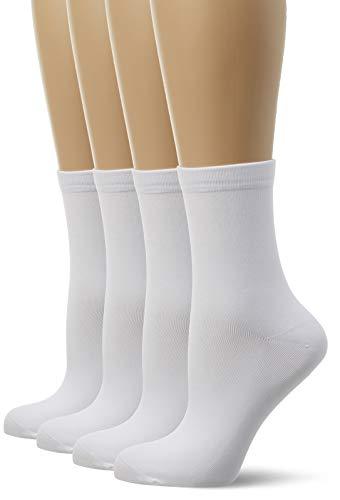 Dim blanc Femme Blanc lot blanc De 4 blanc Chaussettes blanc 767wqryCO