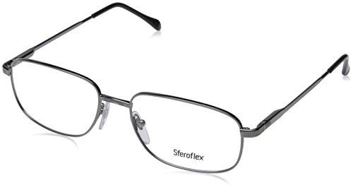 (Sferoflex SF 2086 Eyeglasses Styles Gunmetal Frame w/Non-Rx 52 mm Diameter Lenses, SF2086-268-52)