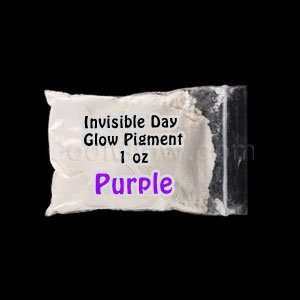 Glominex Glow in the Dark Pigment 1 oz - Invisible Day Purple - AD257