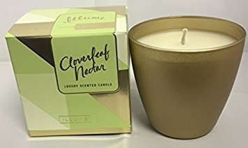 (Illume Luxury Demi Boxed Glass Candle Cloverleaf Nectar 4.7 Oz )