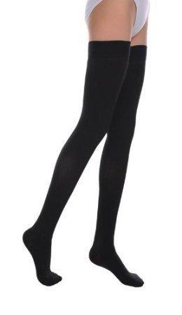 e7379e047e5fc Opaque Compression Thigh High Stockings Therapeutic Firm Support 20-30 mmHg,  Closed Toe,