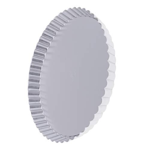 Prettyia Aluminum Alloy Pizza Plate/Pan/Tray/Bakeware Anodizing Design for Baking Wide Rim, Aluminum Floral Edge ()