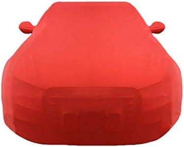 キャデラックXTS XT4 XT5 ECT EXT XLR SLS特別カーカバー日焼け止め防塵太いストレッチコットンのカーカバーとの互換性のカーカバー (Color : Red, Size : XTS)