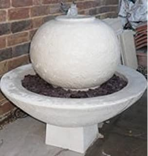 Stone Garden Water Fountain, Modern Contemporary Ball Fountain Self  Contained Outdoor Ornate Garden Water Feature