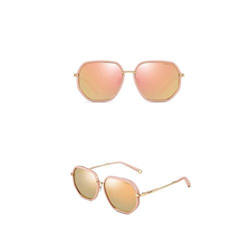 mujer sol de gafas Gafas tamaño polarizadas A sol Retro Gafas Sungeye de Color para A gran de E1xpBqn7