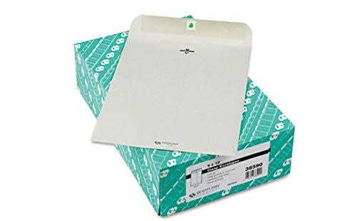 Clasp Envelope, 9 x 12, 28lb, Executive Gray, 100/Box Heavyweight Comfyleads