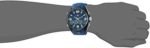 U.S. Polo Assn. Men's Quartz Metal and Rubber Casual Watch, Color Blue (Model: US9598)