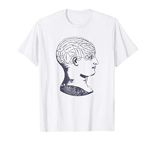 Vintage Phrenology T-Shirt Anatomy Brain Skull Diagram Tee]()