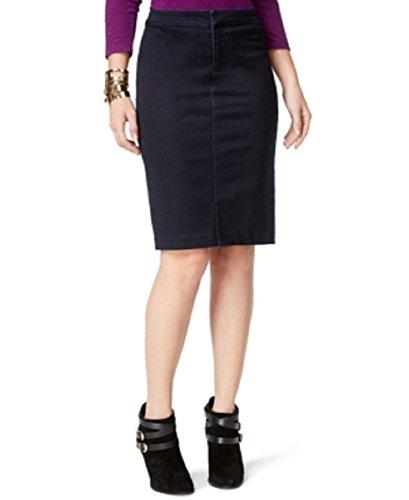 International Concepts Denim Pencil Skirt Dark Indigo Wash SZ 12
