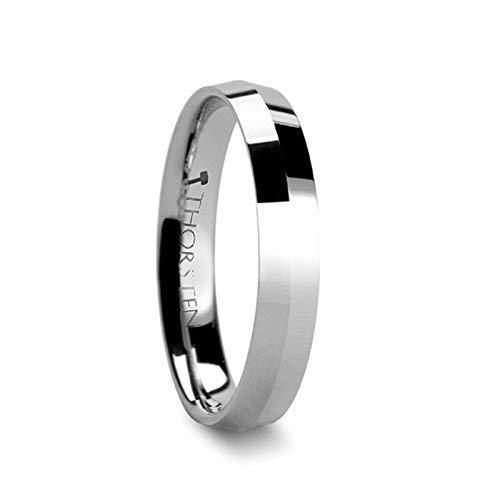 (KATANA 4 mm Knife Edge Tungsten Carbide Wedding Ring - FREE Engraving)