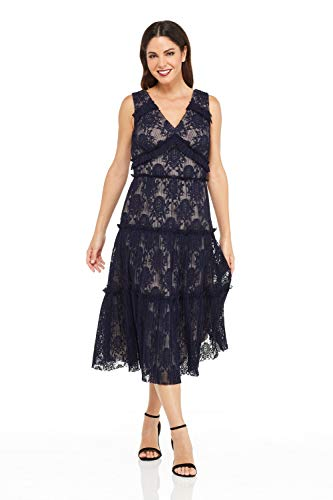Galaxy Laces - Maggy London Women's Pleat Lace Tiered