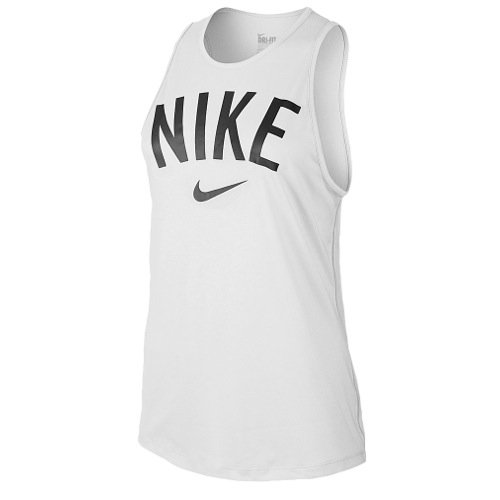 Nike Womens Tomboy Graphic Training Tank Top White/Black 648577-100 Size X-Small