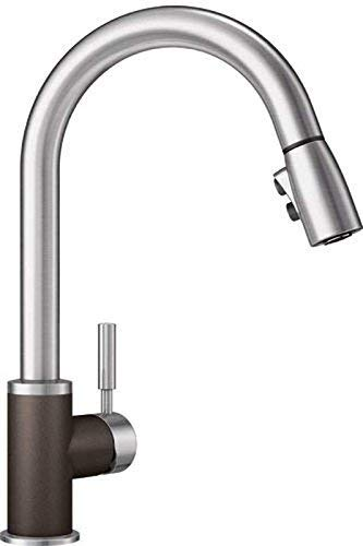 Cafe Kitchen (Blanco 442056 Sonoma 1.5 Bar Sink Faucet, Cafe Brown/Stainless Dual Finish)