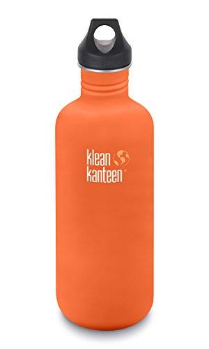 Klean Kanteen 40oz Classic Stainless Steel Water Bottle with Klean Coat, Single Wall and Leak Proof Loop Cap - Sierra Sunset (NEW ()