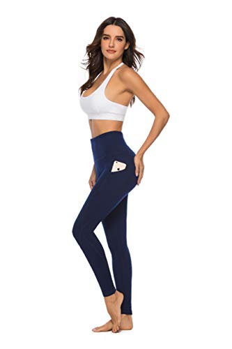 SERHOM Yoga Pants, High Waist Tummy Control Workout Women Yoga Leggings with Pockets