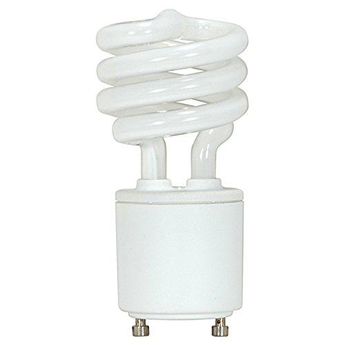 (6-Pack) Satco S8201 9-Watt 2700K GU24 Base Mini Spiral Compact Fluorescent Lamp, 40W Equal