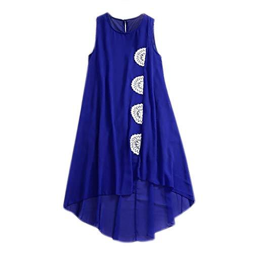 Lilicat✈✈ Altalena Perline Club Abiti monospalla Bohemia Tunica Abito Maxi grande floreale Blue1 Stampa serale frange Donna con 664rFBq