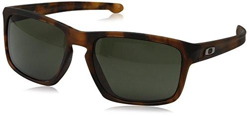 Oakley Men's Sliver OO9269-02 Rectangular Sunglasses, Matte Brown Tortoise, 57 - Fit Asian Sliver