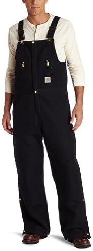 Carhartt Men's Quilt Lined Zip to Waist Bib Overalls