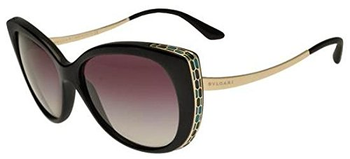 Bvlgari BV8178 901-8G Black/Gold BV8178 Cats Eyes Sunglasses Lens Category 3
