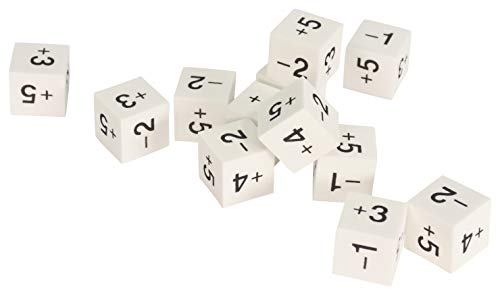School Smart Positive and Negative Number Dice, Set of 12