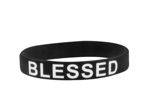 Pure Essence Health Blessed White Silicone Wristbands
