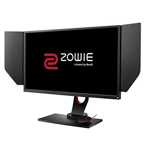 BenQ ZOWIE XL2546 240 Hz e-Sports Gaming Monitor with DyAc(tm) , Black eQualizer, Height Adjustable Stand, S Switch, Shield, Black eQualizer, 24 Inch, Dark Grey
