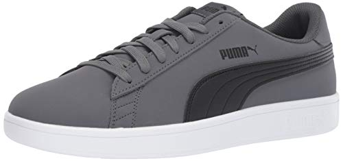 PUMA Men's Smash v2 Buck Sneaker Iron gate Black, 10 M - Buck Sneaker
