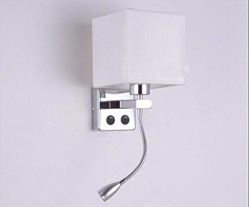 Yjnb breve moderno posto letto appliques lampade da parete con