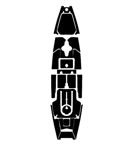 Marine Mat Kayak Mat Kit for Hobie Pro Angler 12-2019 (Aegean Blue/Black - Complete Kit)