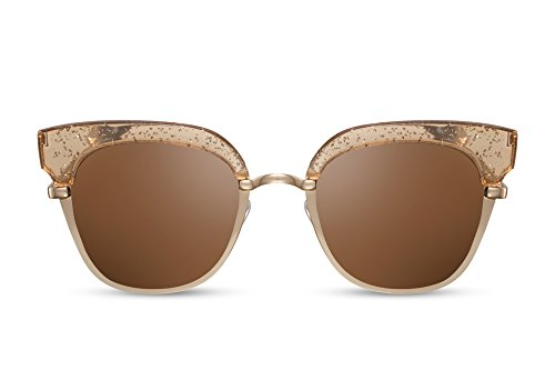 de Gafas Lentes Espejadas Metálicas UV400 Sol Gold3 Cheapass 5Pzxqwnd5