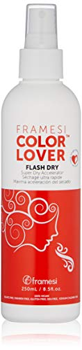 Framesi Color Lover Flash Dry Spray - 8.5 Ounce, Color Safe Blow Dry Spray, Super Dry Accelerator and Heat Protection Spray For Hair, Vegan, Gluten Free, Cruelty Free -