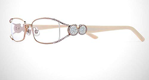 2.00 Rimless Reading Glasses with Sparking Swarovski Elements by immy Crystal New York
