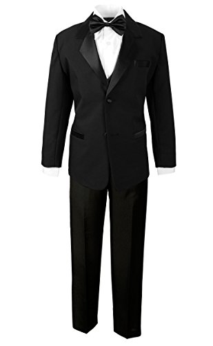 Spring Notion Boys' Classic Fit Tuxedo Set, No Tail 8 Black