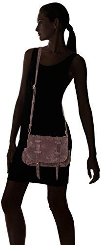 Mila Louise 3017V, Bandolera Mujer, 9x20x23 cm Marrón (Mocha)