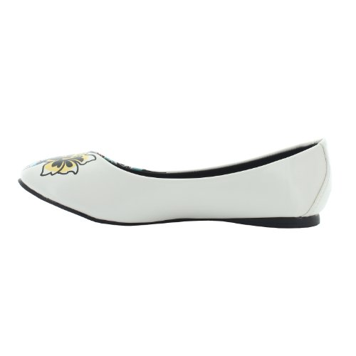 white U multicolored K Bianco T donna Ballerine zXqxwqHd8