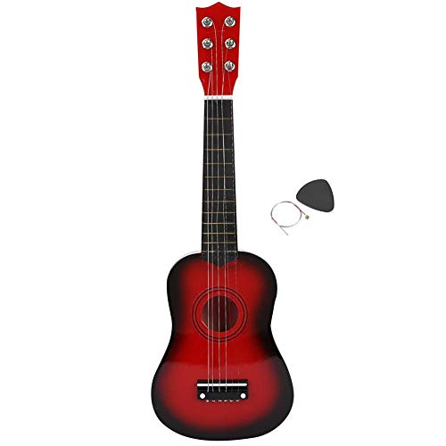 [해외]21 Inch Beginners Kids Acoustic Guitar Pink Red 6 String Kids Guitar ToyGuitar Pick String for Kids Educational Toy Gift Musical Instrument(Red Brown) / 21 Inch Beginners Kids Acoustic Guitar Pink Red 6 String Kids Guitar ToyGuitar...