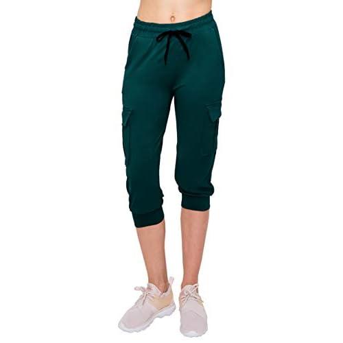 Skinny Fit Lightweight Premium Soft Stretch Pockets Pants ALWAYS Womens Cargo Jogger Sweatpants