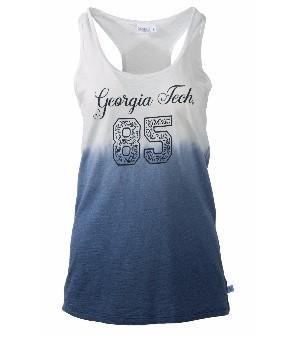 Official NCAA Venley Georgia Tech Yellowjackets GT RAMBLIN WRECK! Women's Ombre Racerback Tank Top