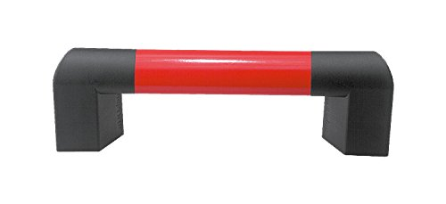 Kipp 06948-140070 Aluminum//Thermoplastic Oval Tube Big Hand Raspberry Red Metric 400 mm Length Anthracite Gray End Piece Socket Head Screw DIN 912