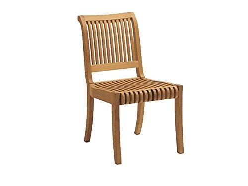 WholesaleTeakFurniture Grade-A Teak Wood Armless Dining Chair [Model: Giva] #WFDCALGV