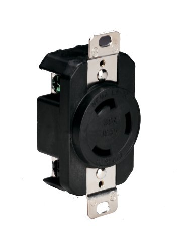 Marinco 305CRRB Marine Electrical Receptacle (30-Amp, 125-Volt, Female, ()